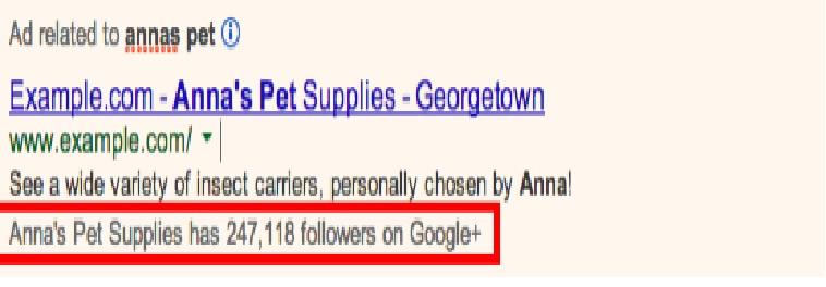 Định dạng quảng cáo - Hiển thị quảng cáo với xác nhận của trang Google+