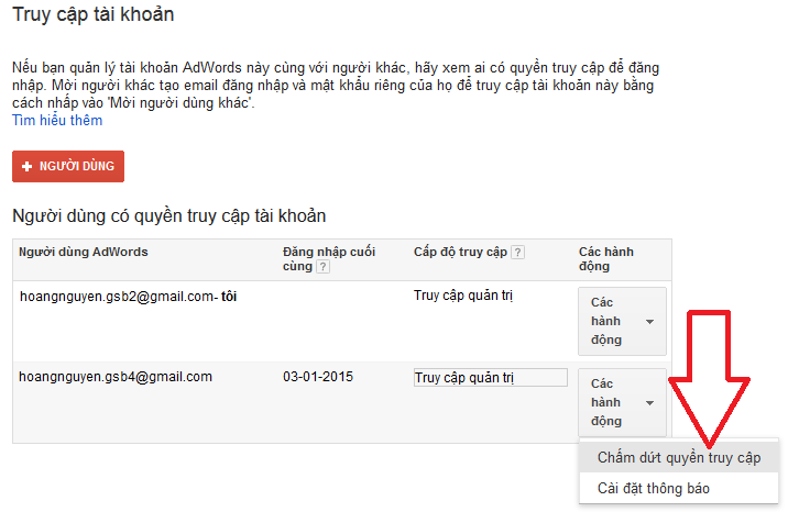 cách làm trong sạch email đã đăng ký adwords